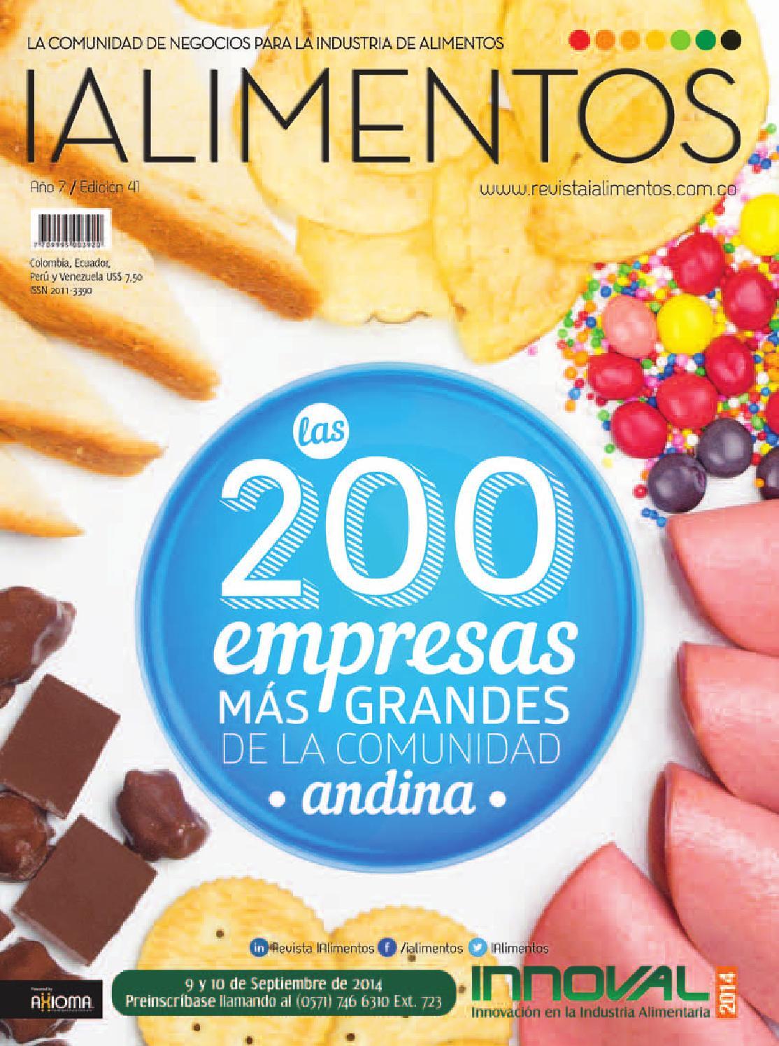Revista IAlimentos Edición 41 by Axioma Comunicaciones S.A.S. - issuu