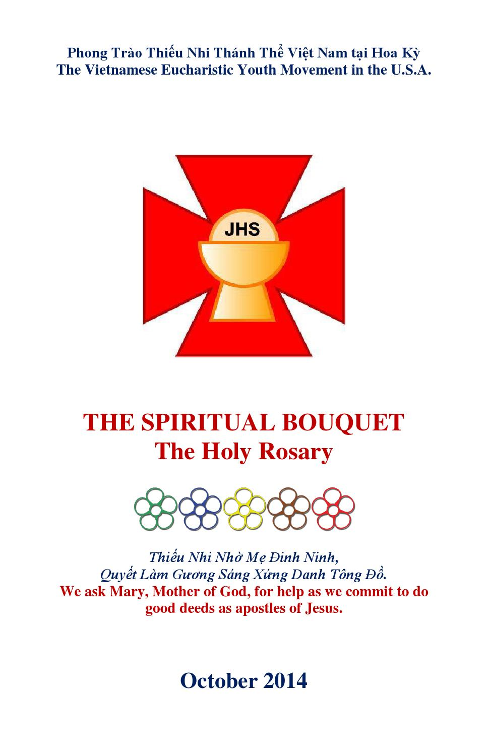 The Spiritual Bouquet Campaign The Holy Rosary Of October 2014 By Miền Tay Pttnttvnhk Issuu
