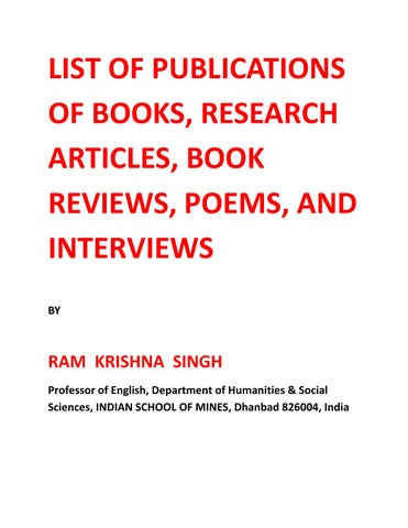 List of publicationsprofessor r k singh by ram krishna singh issuu list of publications of books research articles book reviews poems and interviews by fandeluxe Gallery