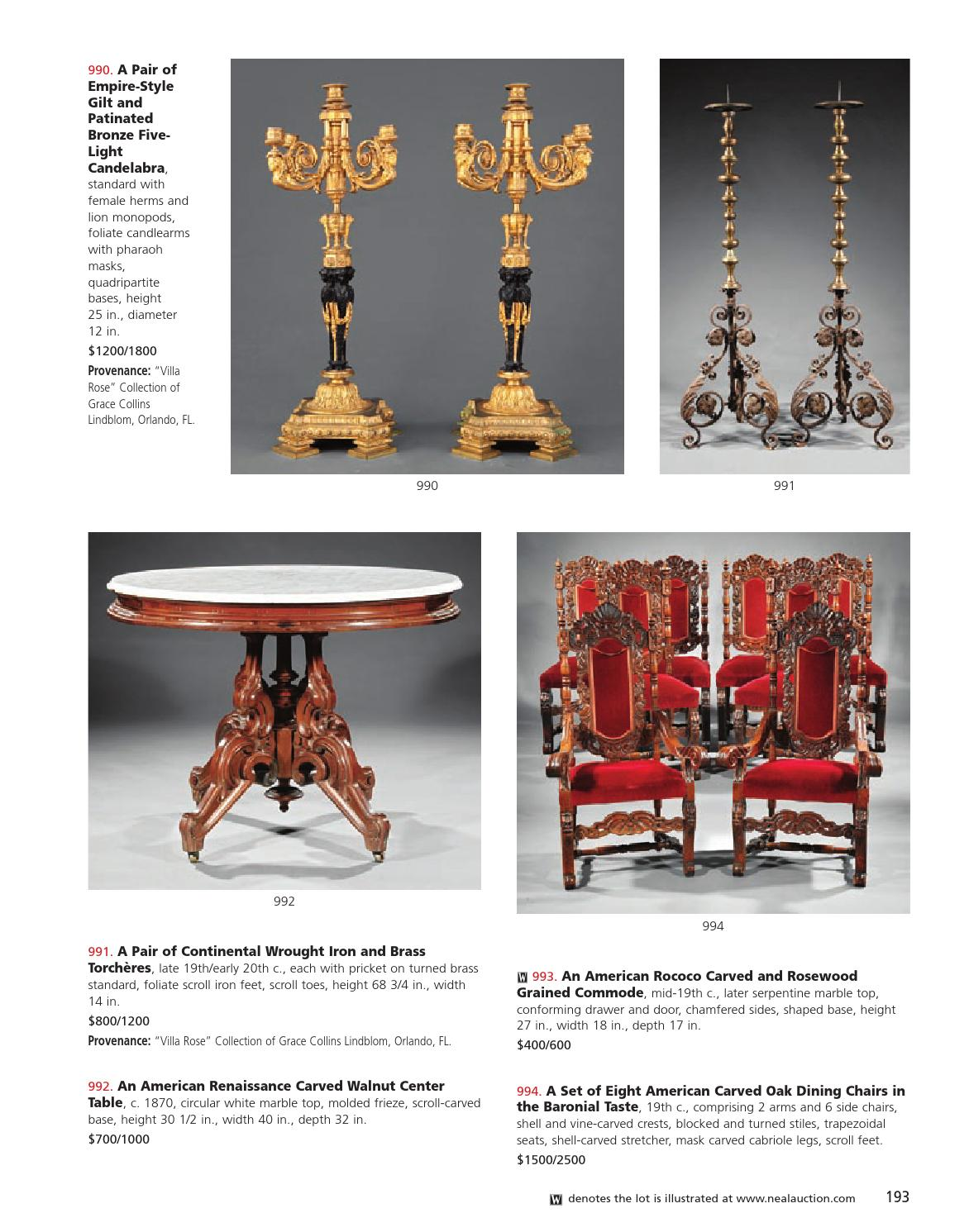Astonishing September 13 14 Important Estates Auction By Neal Auction Machost Co Dining Chair Design Ideas Machostcouk