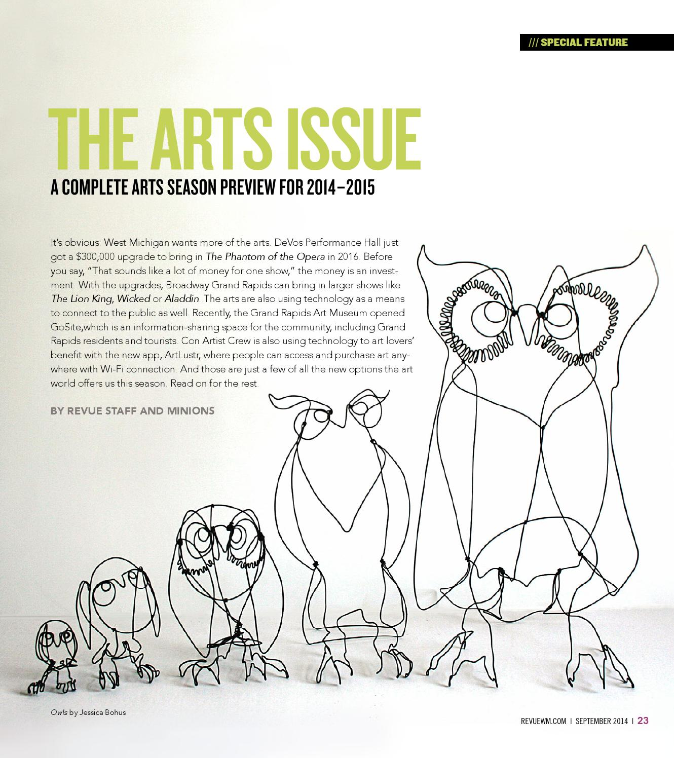 The Arts Issue September 2014 By Revue Magazine Issuu