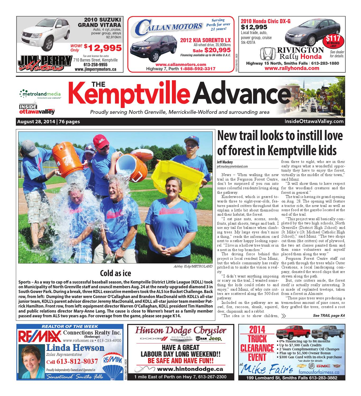 03af41f84d6 Kemptville082814 by Metroland East - Kemptville Advance - issuu