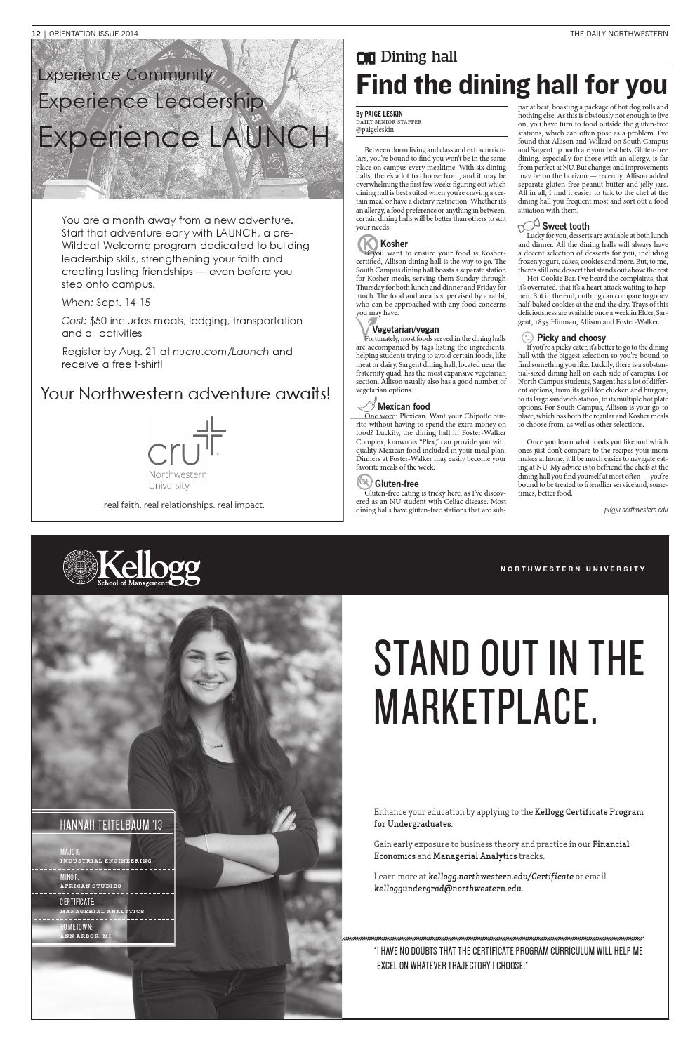 The Daily Northwestern Orientation Issue By The Daily Northwestern