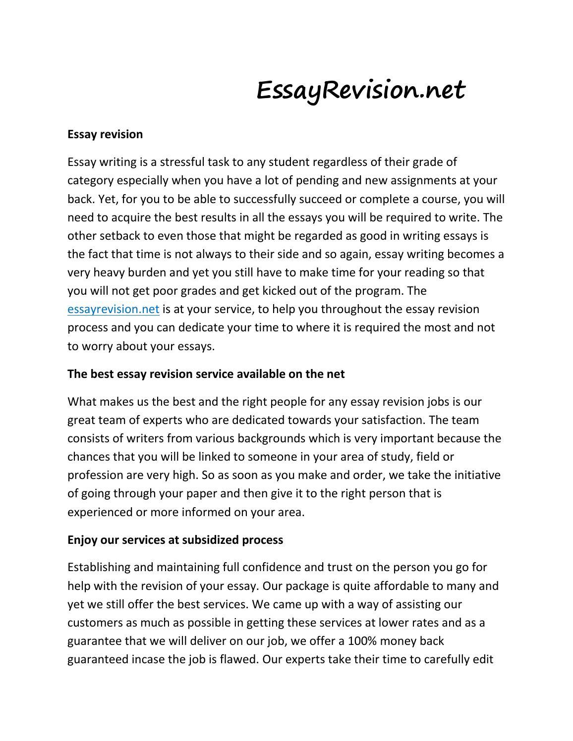 Essay Revision Service | Order-Essays