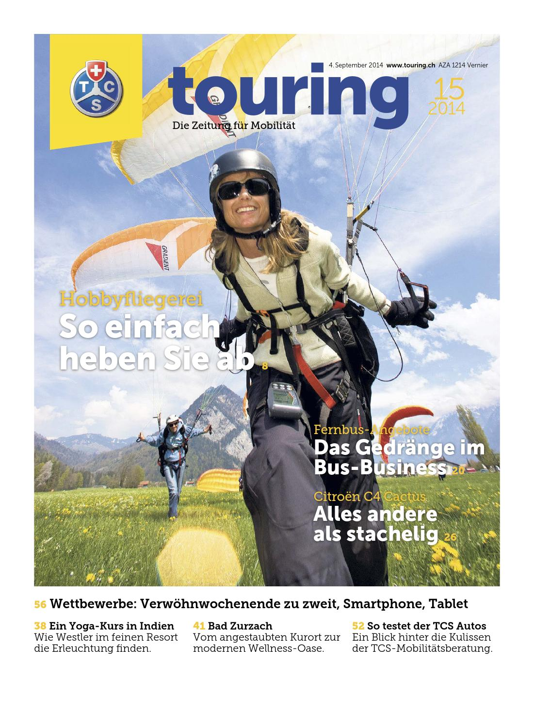 Touring 15 / 2014 deutsch by Touring Club Schweiz Suisse Svizzera ...