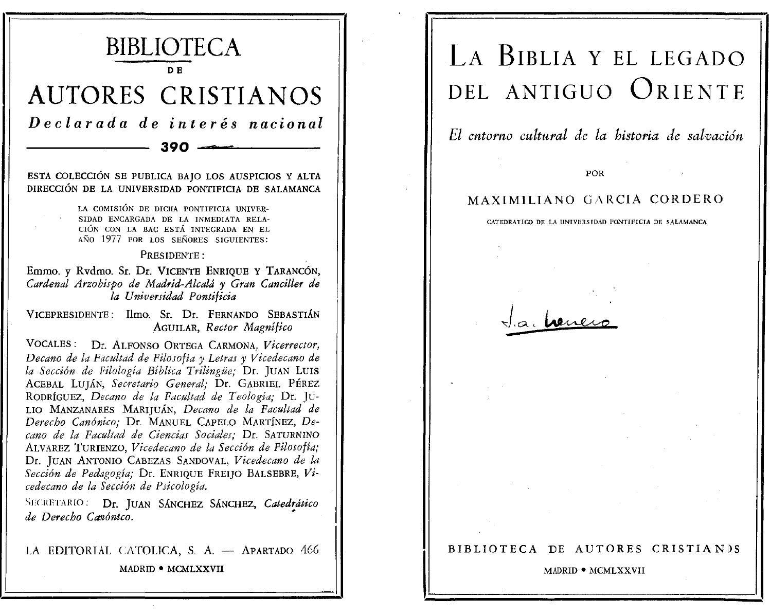 La biblia y el legado del antig maximiliano garcia cordero by  graciacompartida - issuu