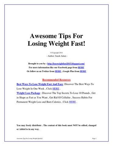 Optimum weight loss program