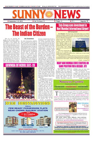 Sunny News 1st-15th September 2014 by Vaibhav Narula - issuu