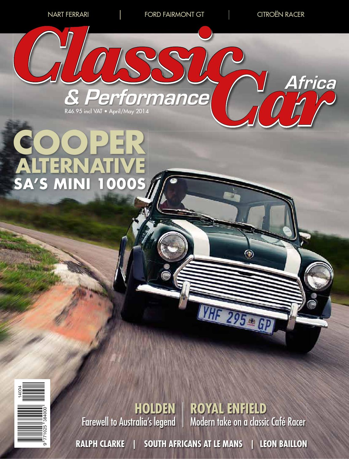 CPCA April/May 2014 by classic & performance car africa - issuu