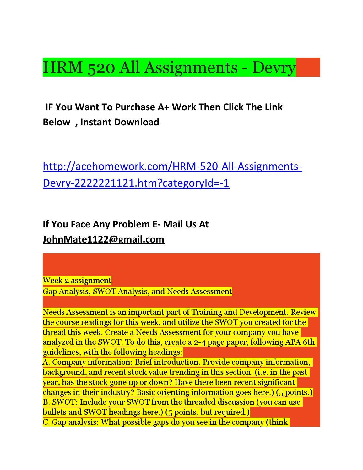 HRM 520 Assignment 4 e-Recruiting