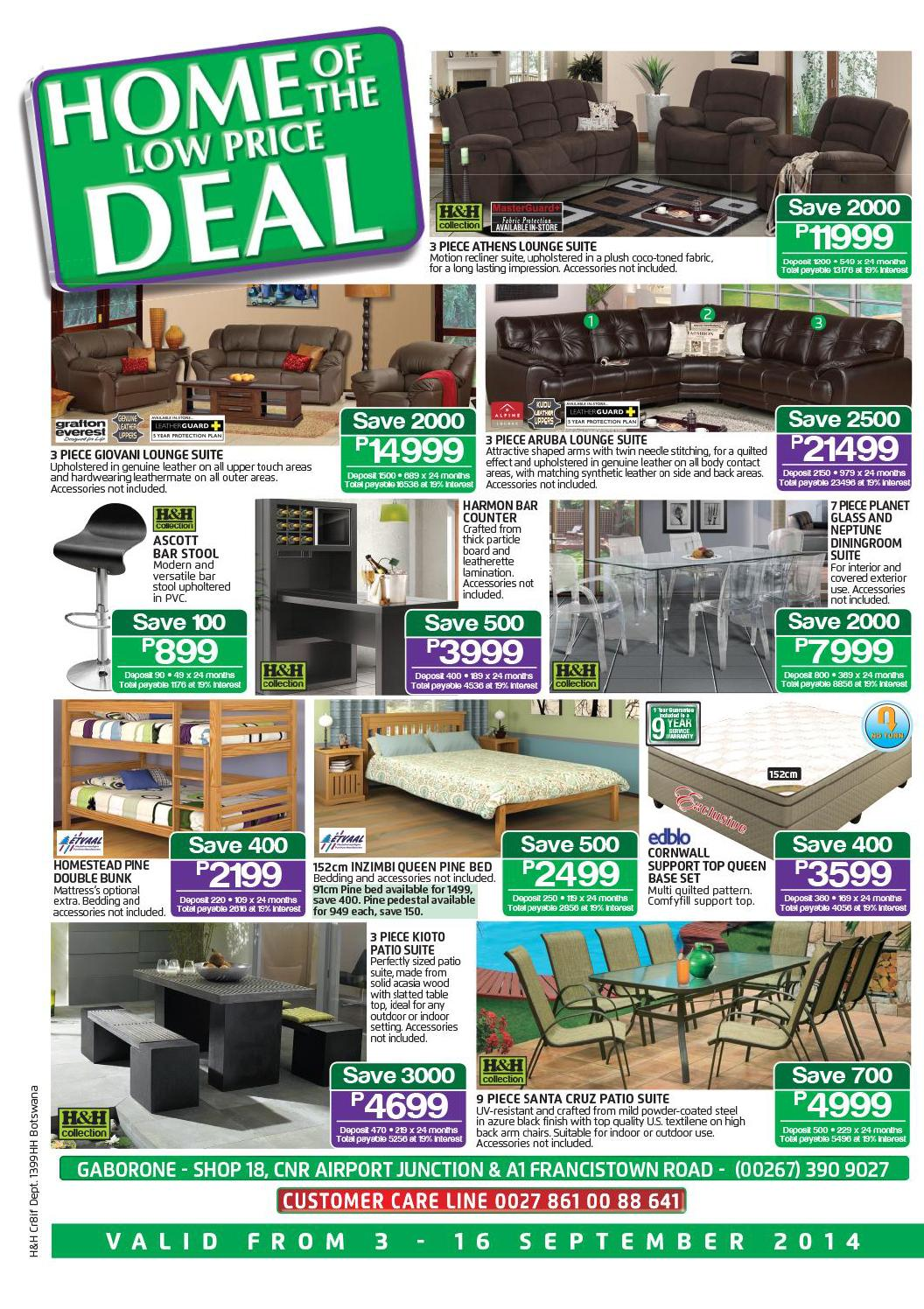 What To Sell >> House & Home Catalogue Botswana Validity 3- 16 September ...