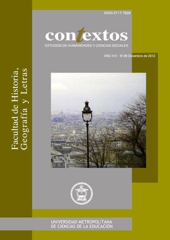 Revista Contextos Número 28 by UMCE - issuu 87bf3618d47