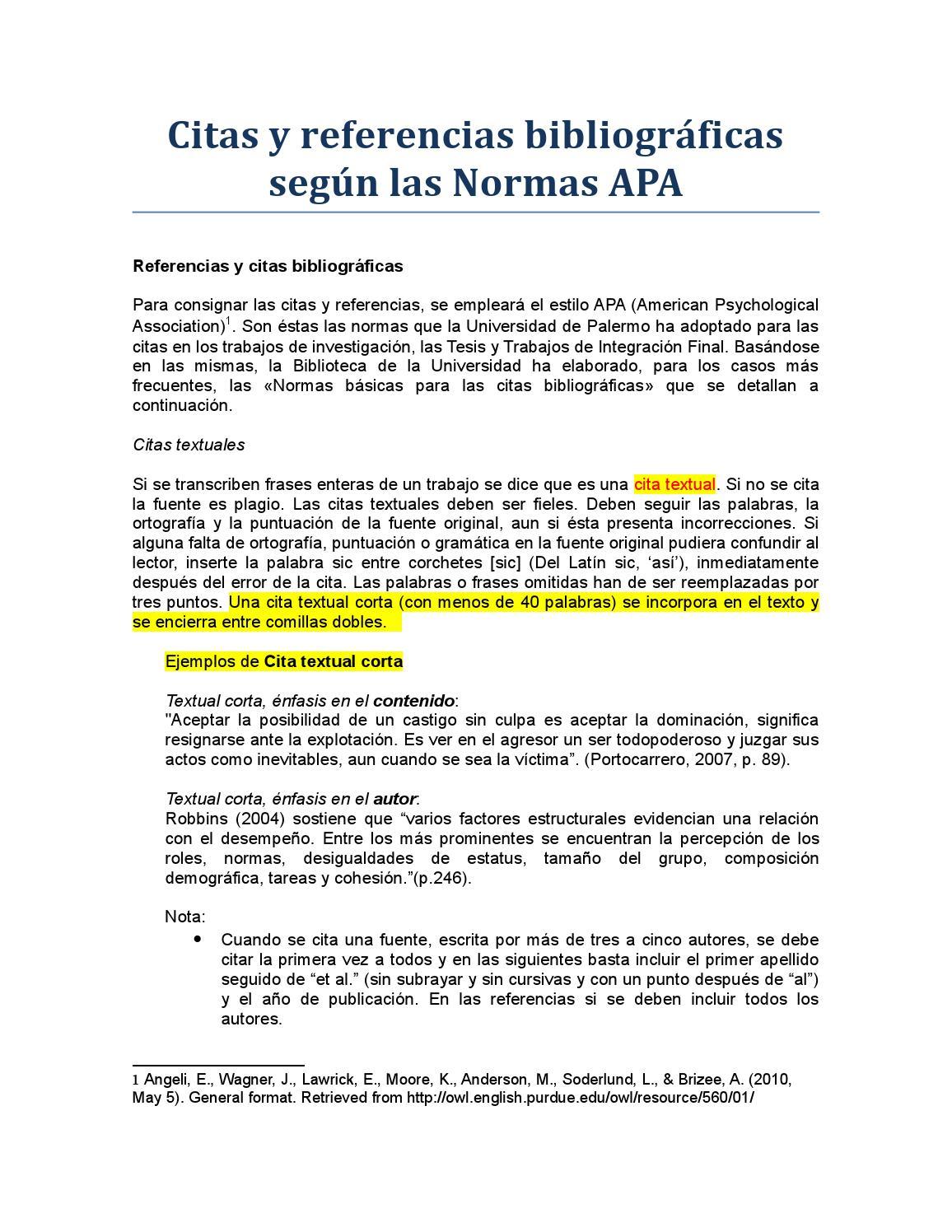 Citación Apa By Salvador Palacios Ada Issuu