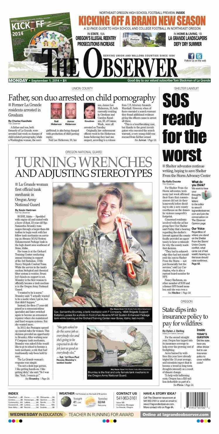 La Grande Observer Daily Paper 09 01 14 By Northeast Oregon News Issuu Nikewallowashoeexplodedviewdiagramjpg