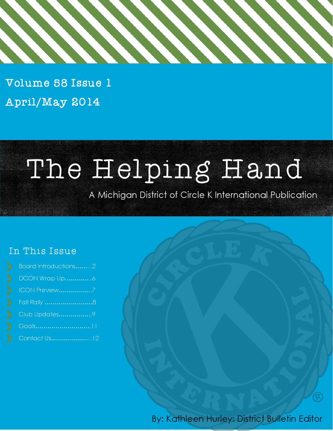 The Helping Hand (April/May) by Michigan District of Circle