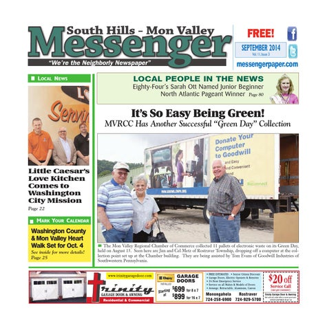 South hills mon valley messenger september 2014 by south hills mon page 1 fandeluxe Images