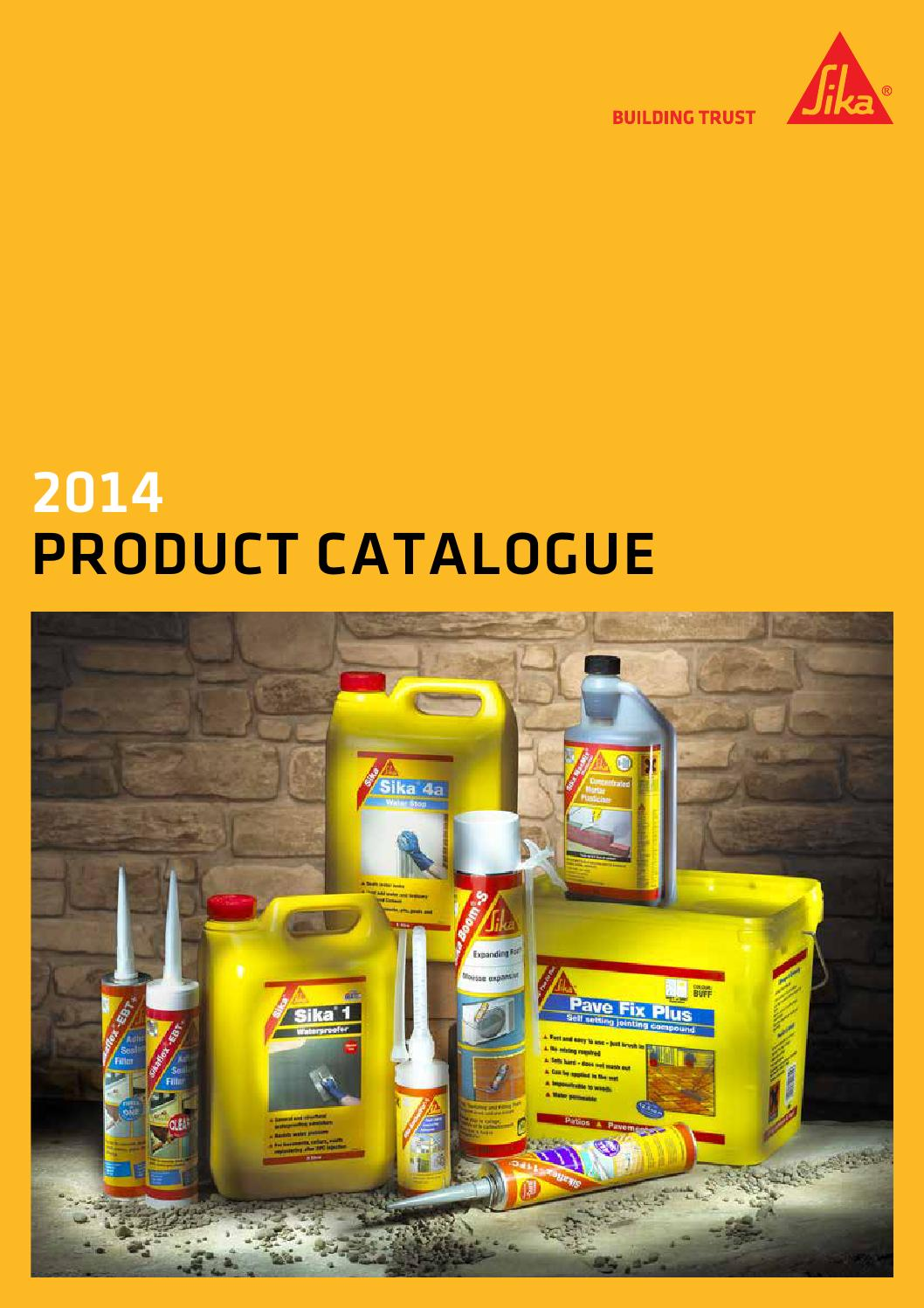 Sika Everbuild Catalogue 2014 Sika Products By Sika