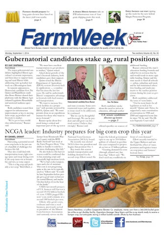 Farmers should prepare for long grain elevator lines based on the latest  yield tour results. page 4