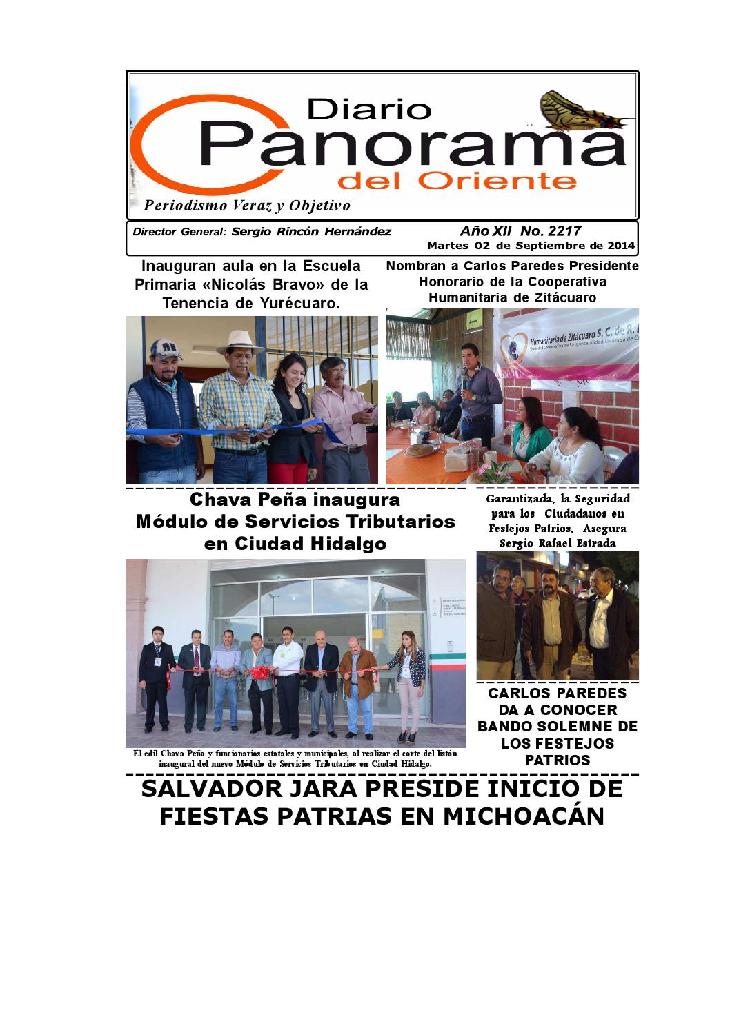 Diario Panorama 2 De Septiembre De 2014 By Vive Maravatio