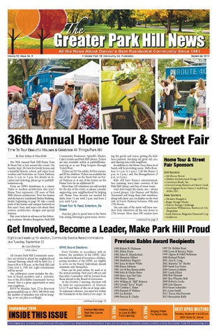 GPHC September 2014 by Greater Park Hill News - issuu