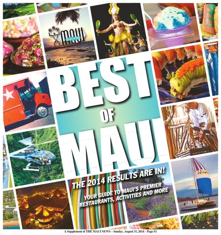 Best Of Maui 2014 By Publishing Company