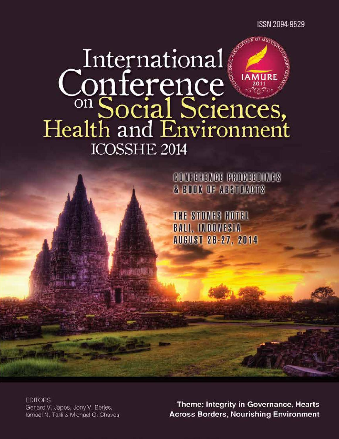 ICOSSHE 2014 by IAMURE Multidisciplinary Research - issuu eaf30c135a