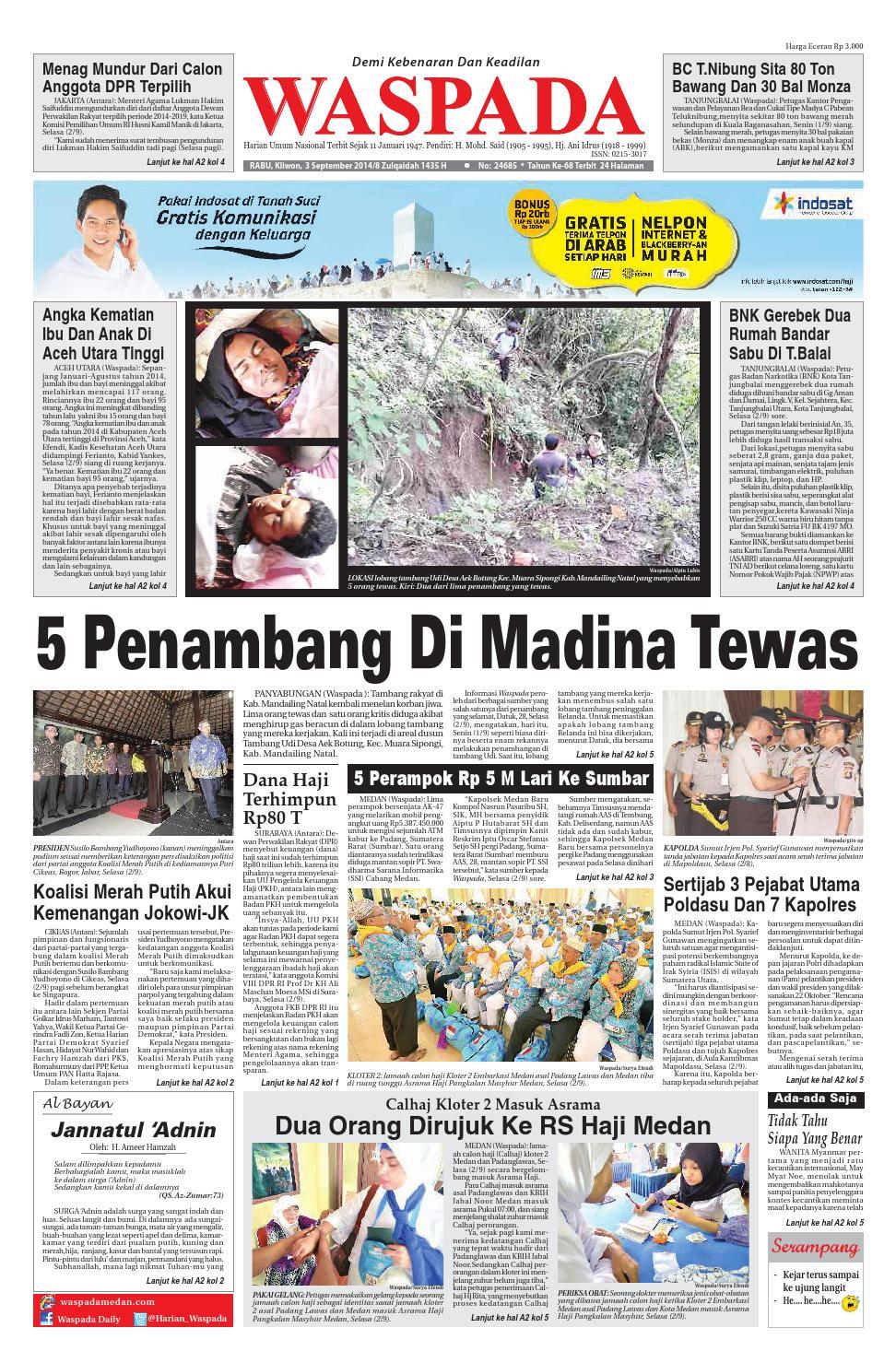 Waspadarabu 3 September 2014 By Harian Waspada Issuu Produk Ukm Bumn Kain Batik Middle Premium Sutera
