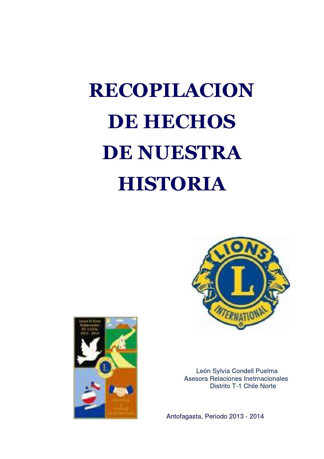 Recopilacion de hechos de nuestra historia by club leones - issuu