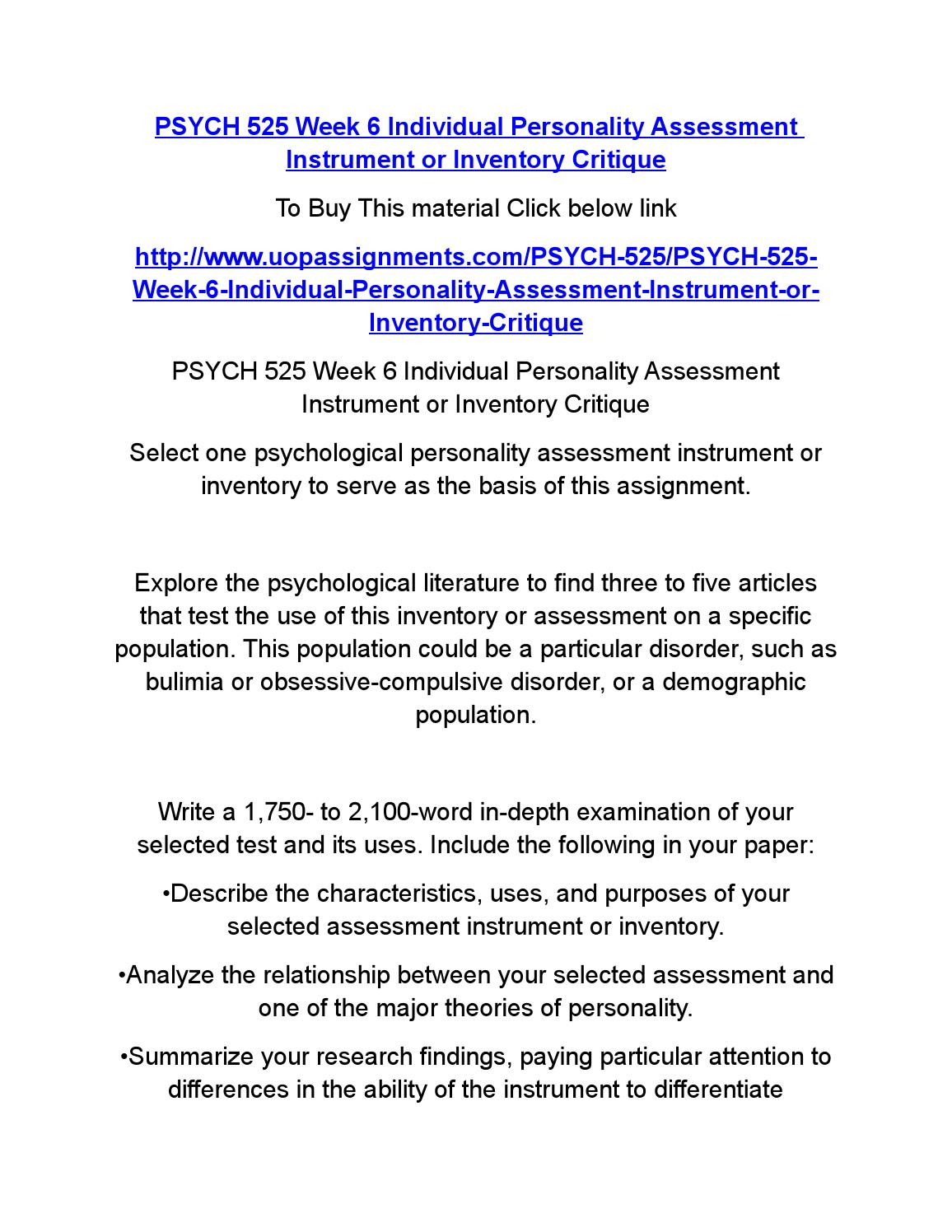 Understanding the Self - Theories of Personality