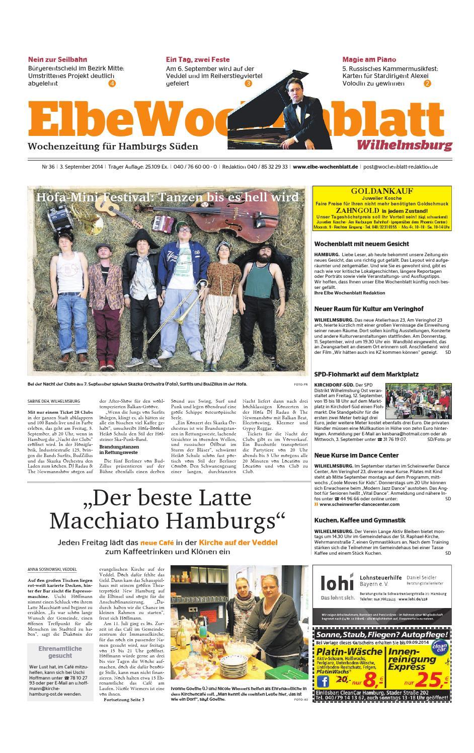 Wilhelmsburg KW36-2014 by Elbe Wochenblatt Verlagsgesellschaft mbH ...