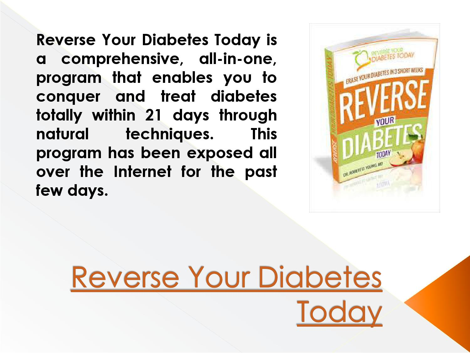 Reverse Your Diabetes Today Matt Traverso by How To Reverse Your ...