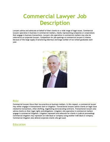 Lawyer Job Description | Commercial Lawyer Job Description By Amyhiggins444 Issuu