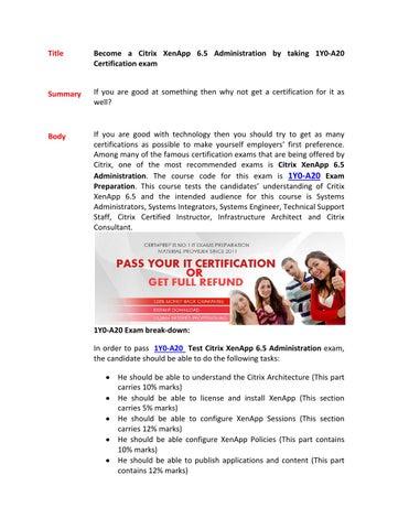 Citrix Xenapp 6.5 Administration Pdf
