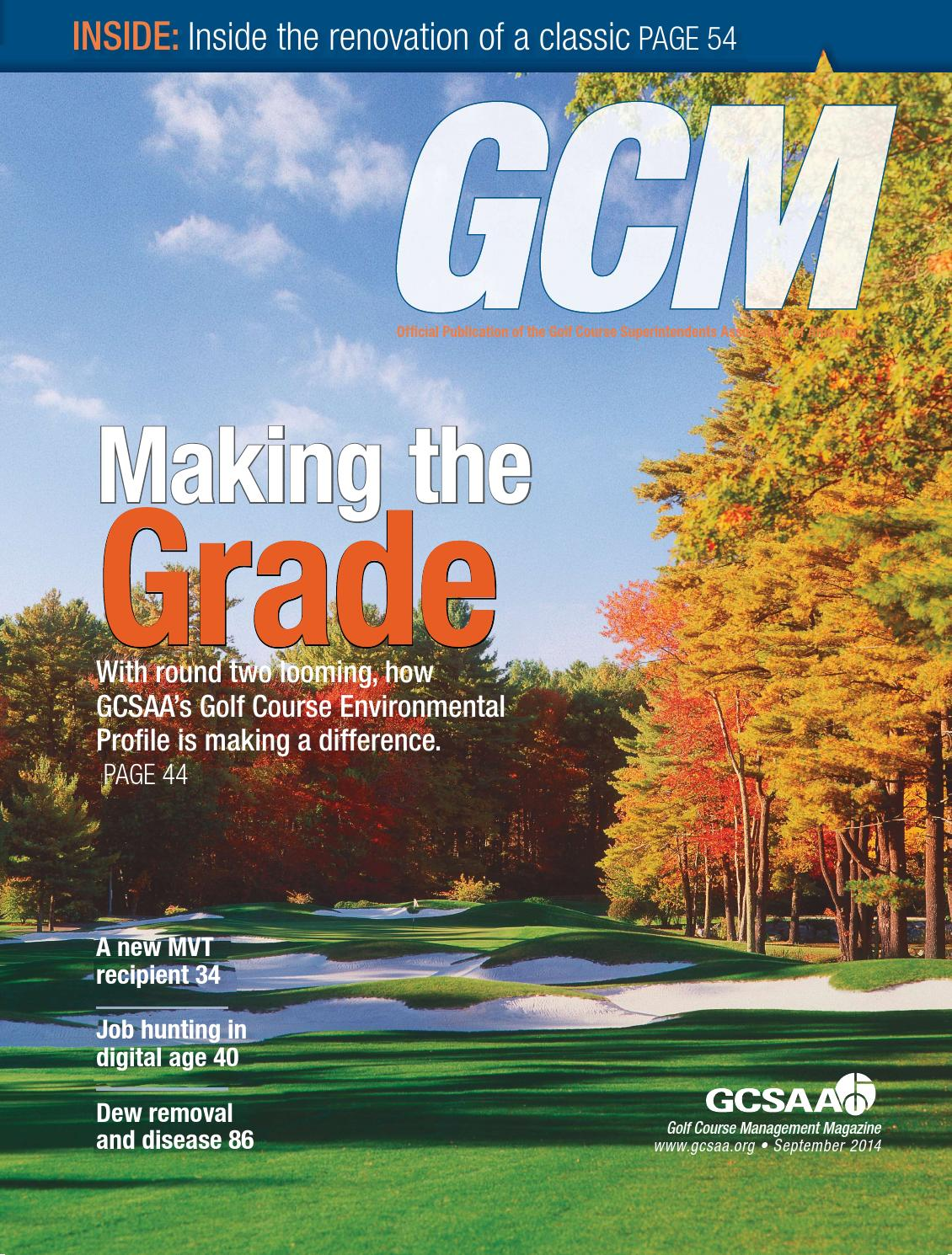 Golf Course Management - September 2014 by Golf Course ...