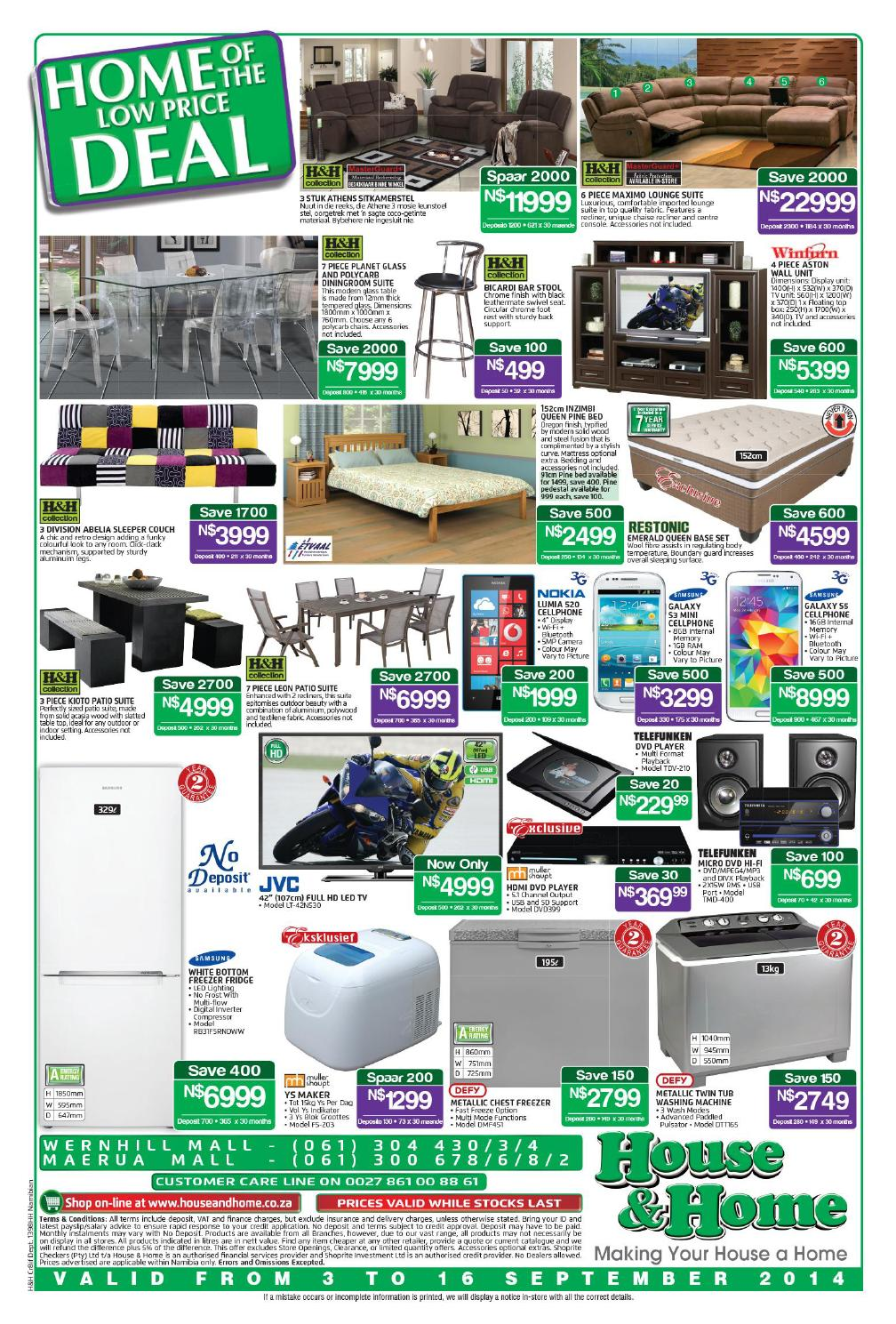 house home catalogue namibia validity 3 16 september 2014 by ok furniture issuu