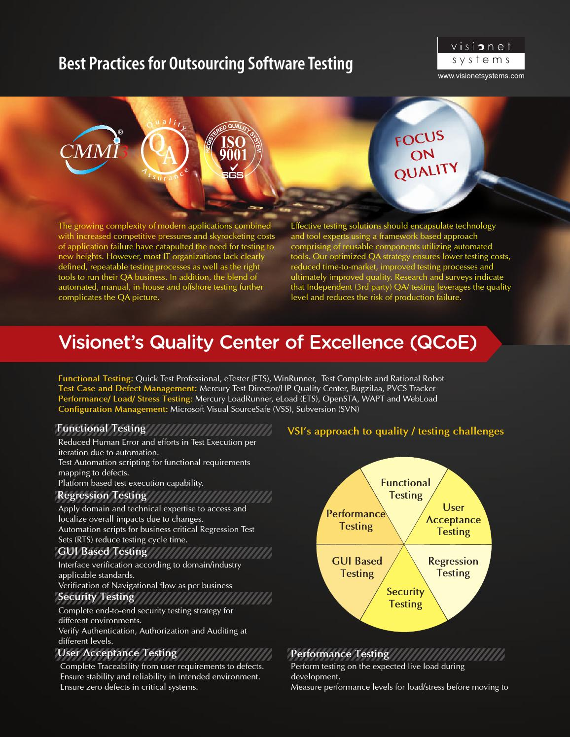 Visionet\'s Quality Center of Excellence (QCoE) - Best Practices for ...