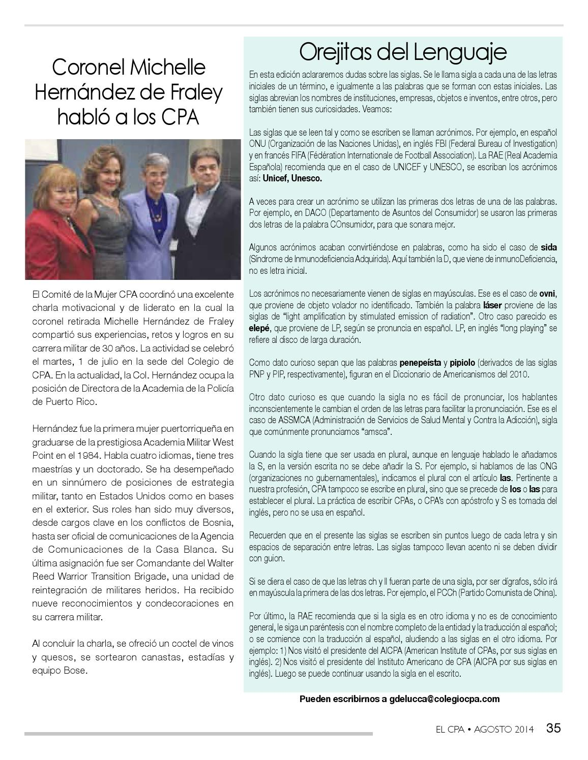 El Cpa Agosto 2014 By Colegio De Cpa Pr Issuu