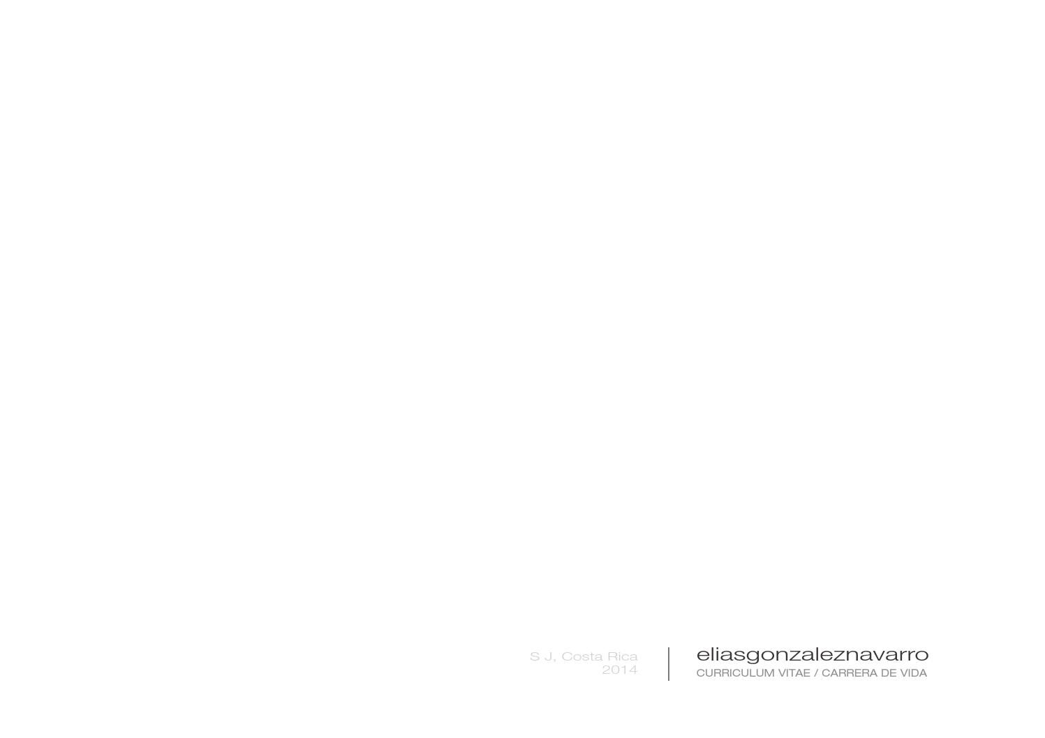 Curriculum Vitae by Elias Gonzalez - issuu