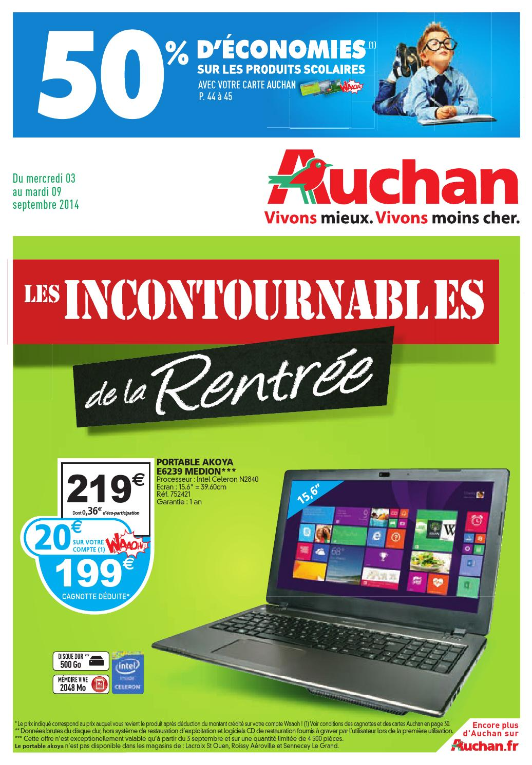 auchan catalogue 3 9septembre2014 by issuu. Black Bedroom Furniture Sets. Home Design Ideas