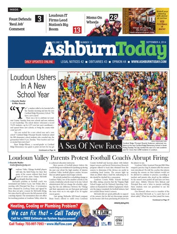 Ashburn today september 4 2014 by insidenova issuu page 1 fandeluxe Choice Image