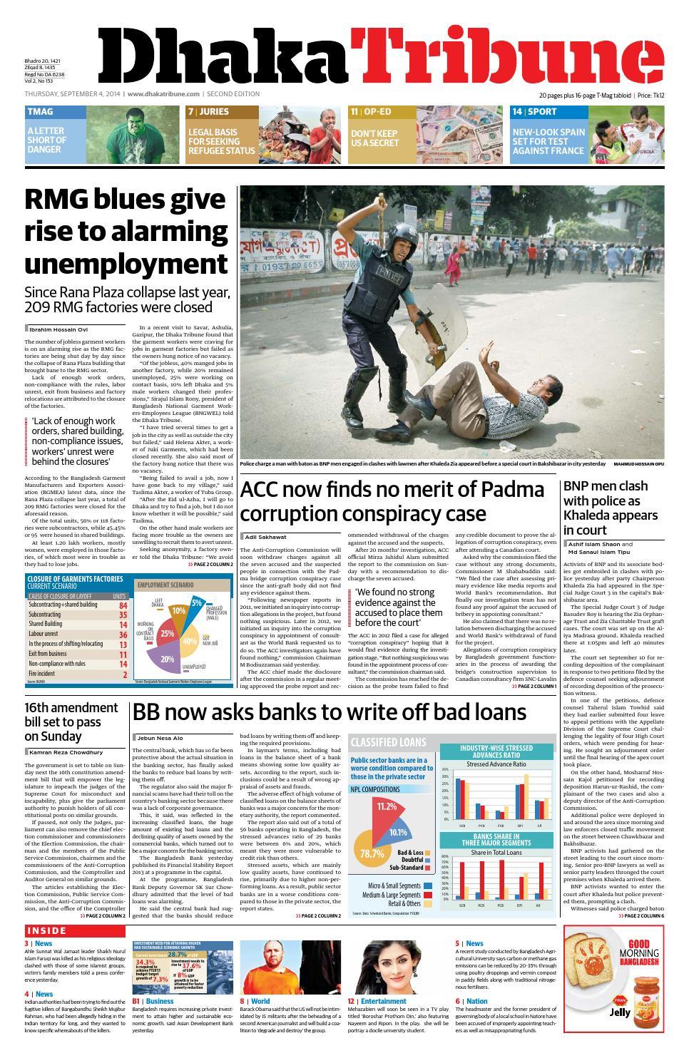 04 Sep, 2014 by DhakaTribune - issuu