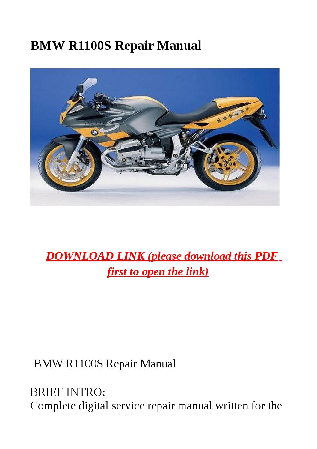 bmw r1100s repair manual by mary jane issuu. Black Bedroom Furniture Sets. Home Design Ideas