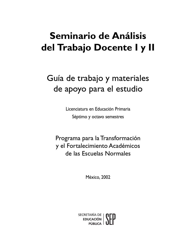 Seminario de an lisis del trabajo docente 1 y 2 by cristian manrique issuu