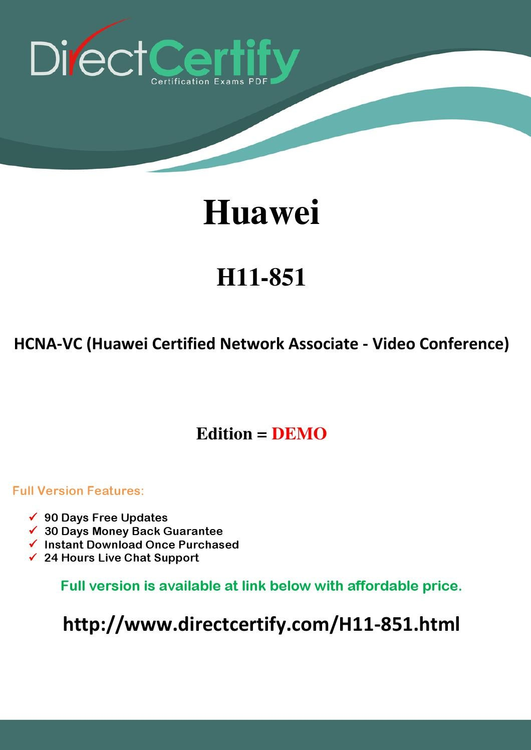 H11 851 directcertify exam questions & answers (pdf) by