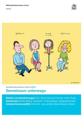 Schulblatt 5 2014 by Schulblatt Kanton Zürich - issuu