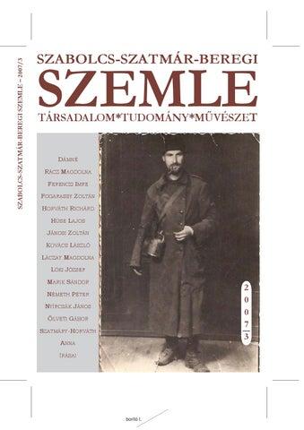 Szabolcs-szatmár-beregi Szemle 2007 3. szám by Szemle - issuu f7cbf8819c