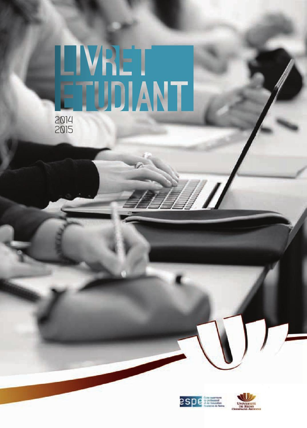 Livretetudiant By Espe Académie Reims Issuu