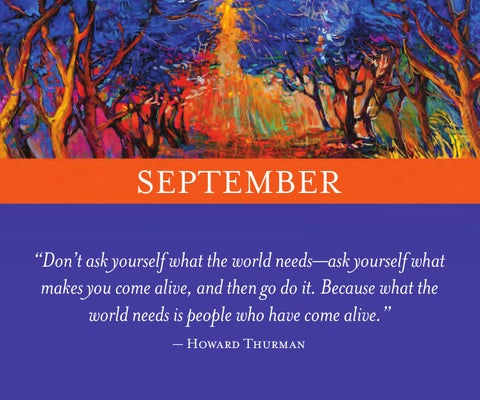 Power of intention 2015 calendar by wayne dyer by holisticshop september dont ask yourself what the world needsask yourself what makes you come alive and then go do it because what the world needs is people who solutioingenieria Gallery