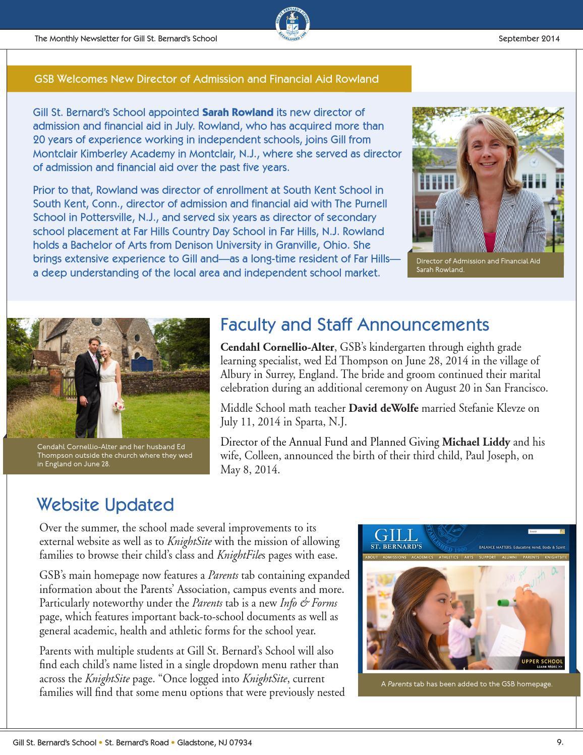 GSB News: September 2014 by Gill St  Bernard's School - issuu