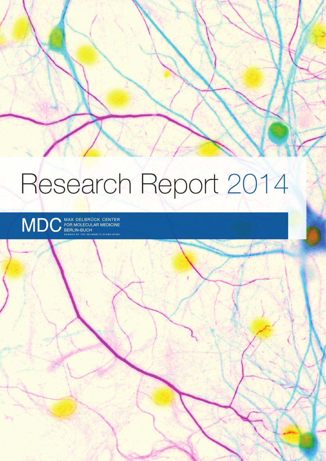 Mdc Research Report 2014 By Max Delbruck Center For Molecular